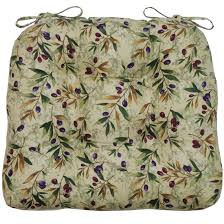 chair cushions green and purple olives tie chair cushion pad at