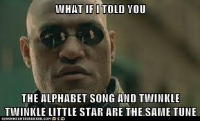 Internet Meme Song - the alphabet song and twinkle twinkle little star are the same tune
