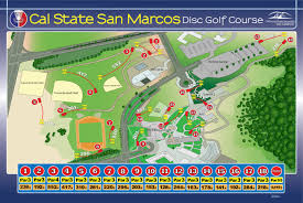 Cal State Map by Csu San Marcos Disc Golf Course Professional Disc Golf Association