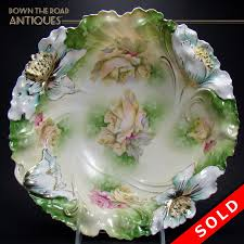 rs prussia bowl roses large r s prussia porcelain bowl with floral design dtr antiques