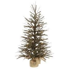 4 ft pre lit vienna twig artificial christmas tree in burlap base