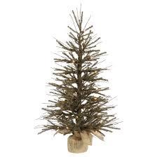 4 ft pre lit vienna twig artificial tree in burlap base