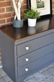 Gray Bedroom Dressers Grey Painted Dresser Top Is Mixture Of Minwax Walnut And