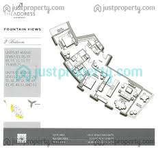 address fountain views 1 floor plans justproperty com
