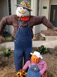 friendly homemade scarecrow for kid friendly halloween decor diy