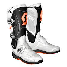 motocross boots clearance scott 350 mx boots white blue offroad sale retailer best selling
