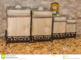 kitchen counter canisters kitchen counter canisters stock image of container background