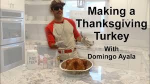 a thanksgiving turkey with domingo ayala