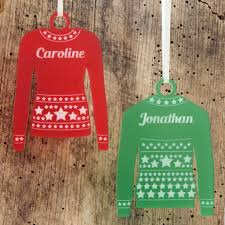 personalised star jumper christmas tree decoration by urban twist