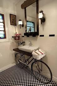 low cost bathroom remodel ideas unique bathroom sink design with a old bicycle hupehome