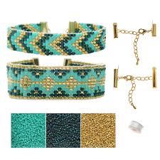 bracelet jewelry kit images Refill loom bracelet duo hemingway teal exclusive jpg