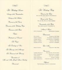 Programs For A Wedding Ceremony Program Set Ups