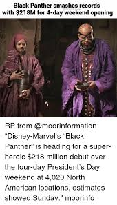 4 Day Weekend Meme - black panther smashes records with 218m for 4 day weekend opening