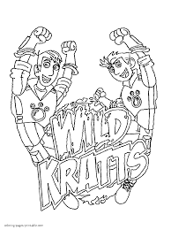 wild kratts coloring pages 5 arterey info