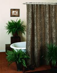 Animal Print Bathroom Ideas by Leopard Print Shower Curtain Foter