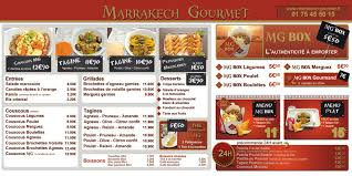 menu cuisine marocaine marrakech gourmet en construction