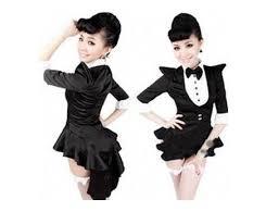 Woman Black Halloween Costume 2015 Uniforms Jazz Dance Costumes Women Black Tuxedo