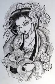 japanese geisha designs
