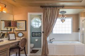 Staged Bathroom Pictures by My Bath Curtain My Bronze Truffle Cabinets My Lack Of Sewing