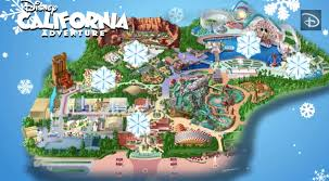 map of california adventure mapping out the holidays disney california adventure park