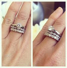 Stacked Wedding Rings by Two Bands Are Better Than One Stack Em Up Bridal Sets