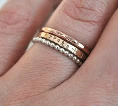 stackable engraved rings jnd stacking rings jessicandesigns