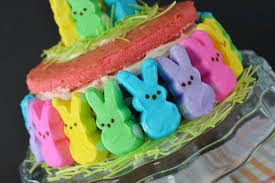 Easter Cake Decorating With Peeps by Bountiful Bunny Peep Easter Cake Recipe The Rebel