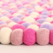 Kid Rug by Marshmallow Felt Ball Rug Rosenberryrooms Com