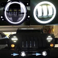 4 inch round led lights urbanroad 2pcs 30w 6000k white led headl for jeep wrangler light