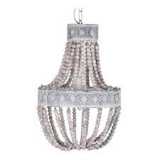 bead chandelier wooden chandelier boho beaded pendant
