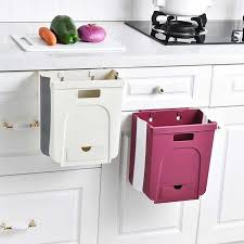 wall hung kitchen cabinets practical wall mounted folding waste bin kitchen cabinet door hanging trash cans