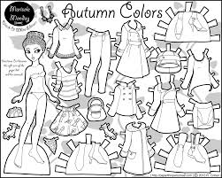 printable paper dolls printable paper dolls to color marisole autumn color bw 2013