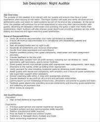 Information Desk Job Description Night Auditor Job Description Sample 8 Examples In Word Pdf