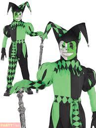 scary clown halloween costumes age 8 16 boys krazed jester costume mask halloween fancy dress