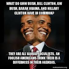 Obama Bill Clinton Meme - what do ghw bush bill clinton gw bush barak obama and hillary
