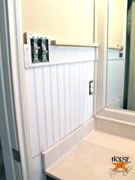 Install Beadboard Wainscoting - kids u0027 bathroom makeover phase 1 hanging beadboard and trim