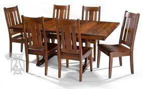 amish table and chairs solid cherry dining table interesting room furniture 52 on set with