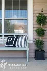 painted porch bench miss mustard seed