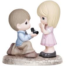 engagement gifts will you me bisque porcelain figurine