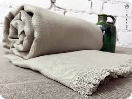 natural linen bed throw twin full size bedspread summer blanket