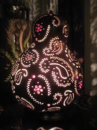 paisley gourd lamp via etsy paisley pinterest gourd lamp