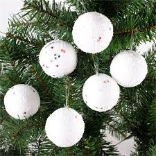 6pcs set tree decoration balls foam glitter baubles
