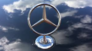 car mercedes logo close up symbol of mercedes benz on car stock video footage