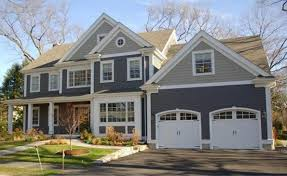 grey house exterior with white trim paint color schemes find this