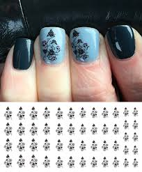 skull rose bush nail art decals u2013 moon sugar decals