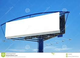blank billboard template royalty free stock photos image 24786808
