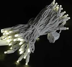 mini lights set 50 light white wire