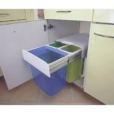 poubelle cuisine tri poubelle tri sélectif 3 bacs 32 litres accessoires de cuisines