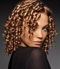 sprial perms medium blonde curly coloured spiral perm