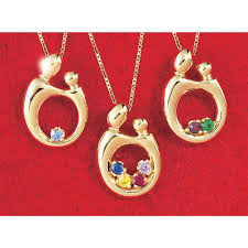 necklace with children s birthstones and child necklace gold necklaces pendants
